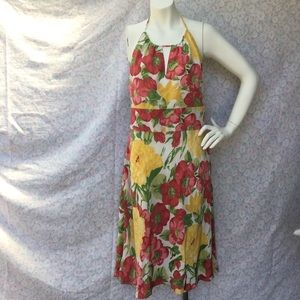 Ann Taylor Loft Sun Dress floral sz 10